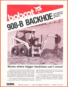 Bobcat 908-B Backhoe Attachment for Bob-Tach @ RVM, LLC | River Valley Machine
