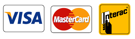 Visa, Master Card, Interac
