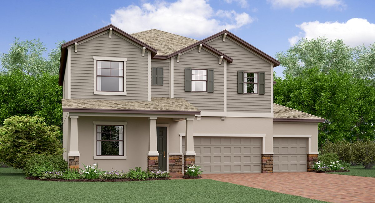 The Colorado Model Lennar Homes Riverview Florida