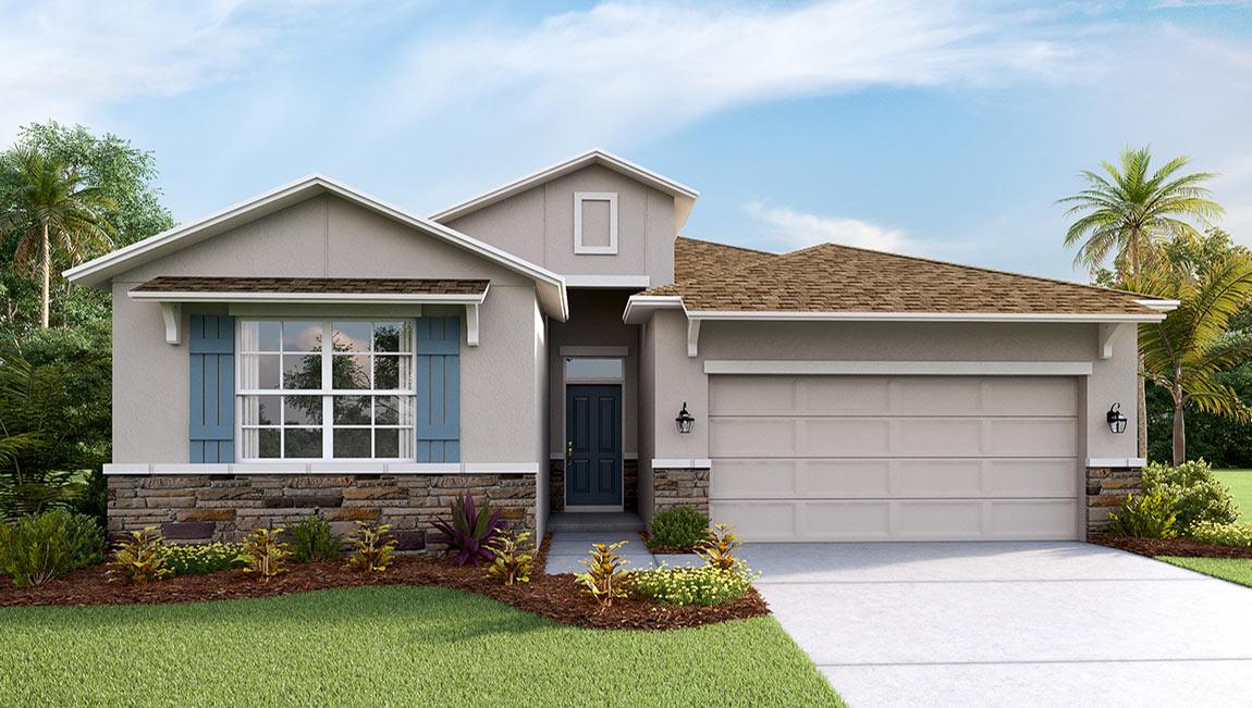 DR Horton Homes | The Granville 2,209 square feet 5 bed, 3 bath, 2 car, 1 story | Brooker Ridge Brandon Florida Real Estate | Brandon Realtor