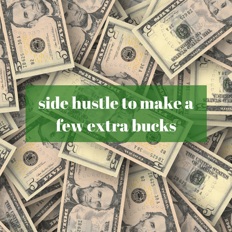 side hustle for extra money for a down payment