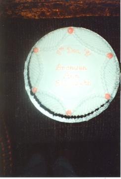 Bronwen christening cake