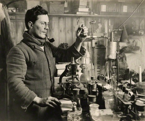Edward Atkinson at work in his lab.