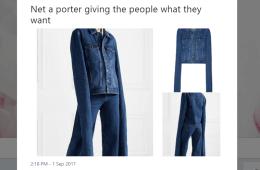 Twitter screenshot net-a-porter wacky denim