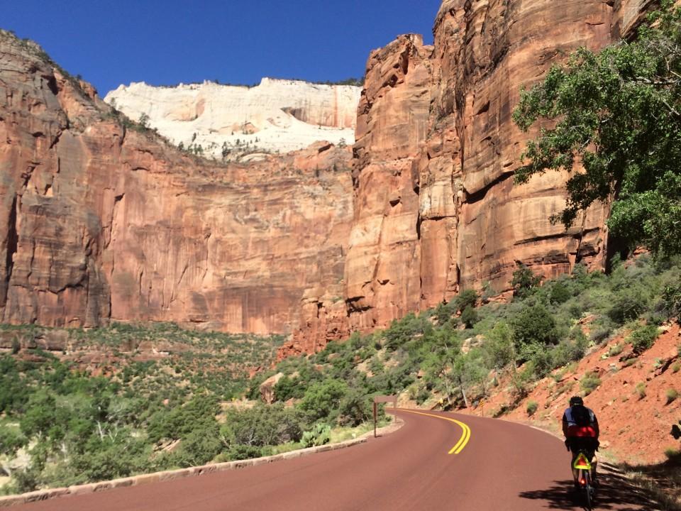 Heading up the road - no cars!