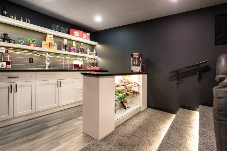 Edmonton sherwood park theatre room design and construction concession snack area bar jigarbov