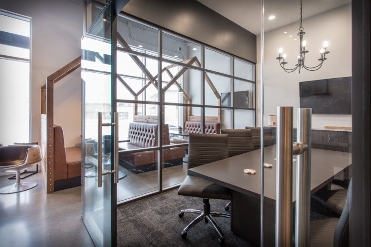 Cooperators Insurance Office glass wall conference meeting room Sherwood Park Edmonton