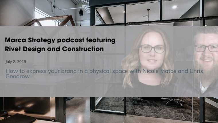 luiza campos marca strategy podcast branded environment construction rivet management