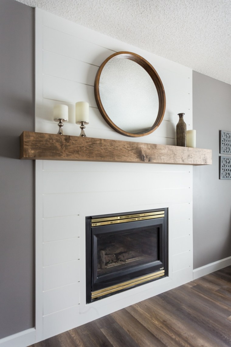 custom home fireplace mantel renovation in sherwood park edmonton
