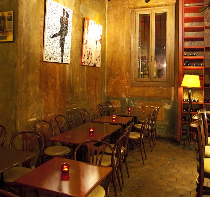Café BORGHÈSE in Nice - the interior