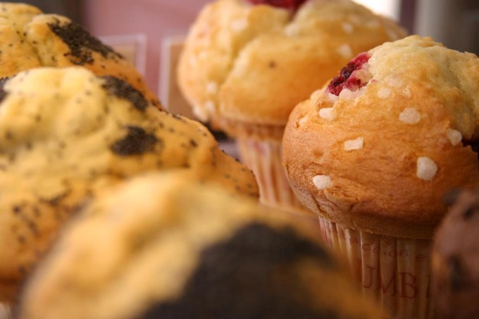 Try the muffins at Columbus Café in Nice!