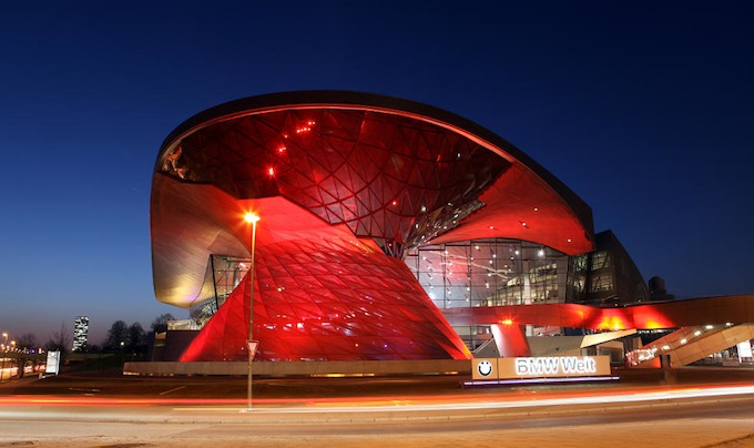 BMW Welt in Munich by night