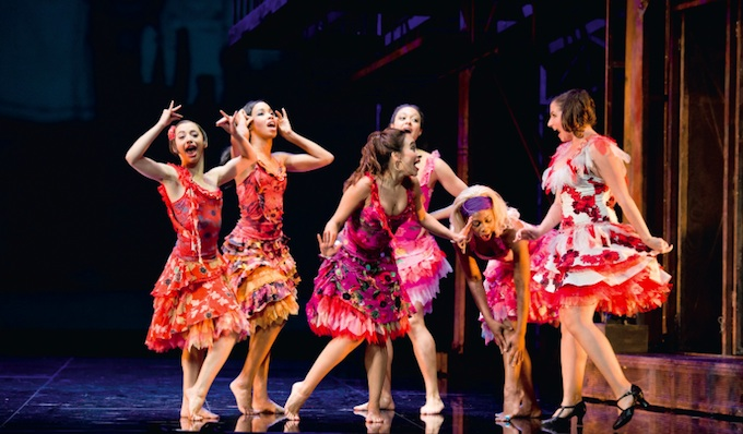 Maria and her friends in West Side Story