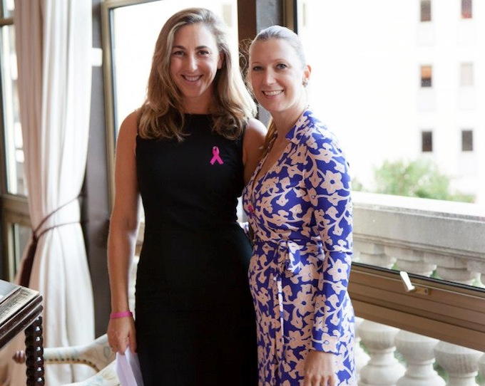 Natasha Frost and Julia Sperl-Kaukonen of Pink Ribbon Monaco