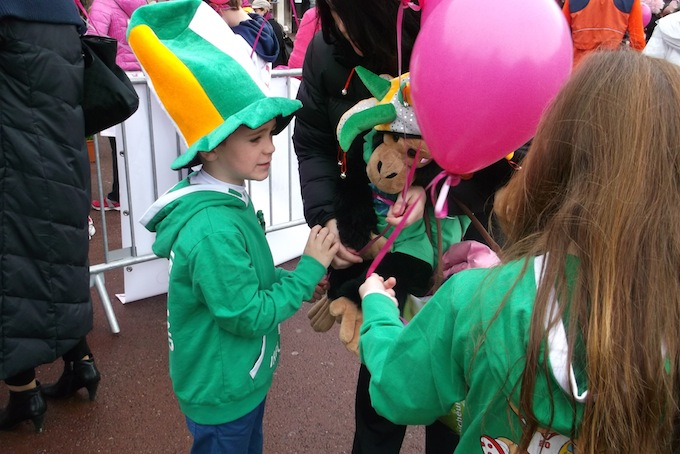 Happy St. Patrick's Day! The Pink Ribbon Walk 2013 in Monaco