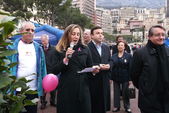The Pink Ribbon Walk 2013 in Monaco speeches