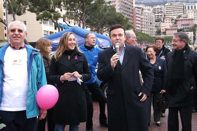 The Pink Ribbon Walk 2013 in Monaco - the Minister speaks!