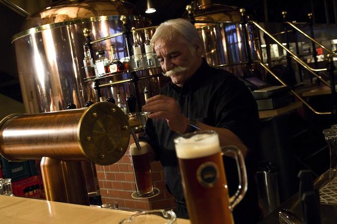 Barman at the Tramdepot Bar in Bern