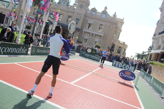 More mini-tennis from the World's top two players in Monaco