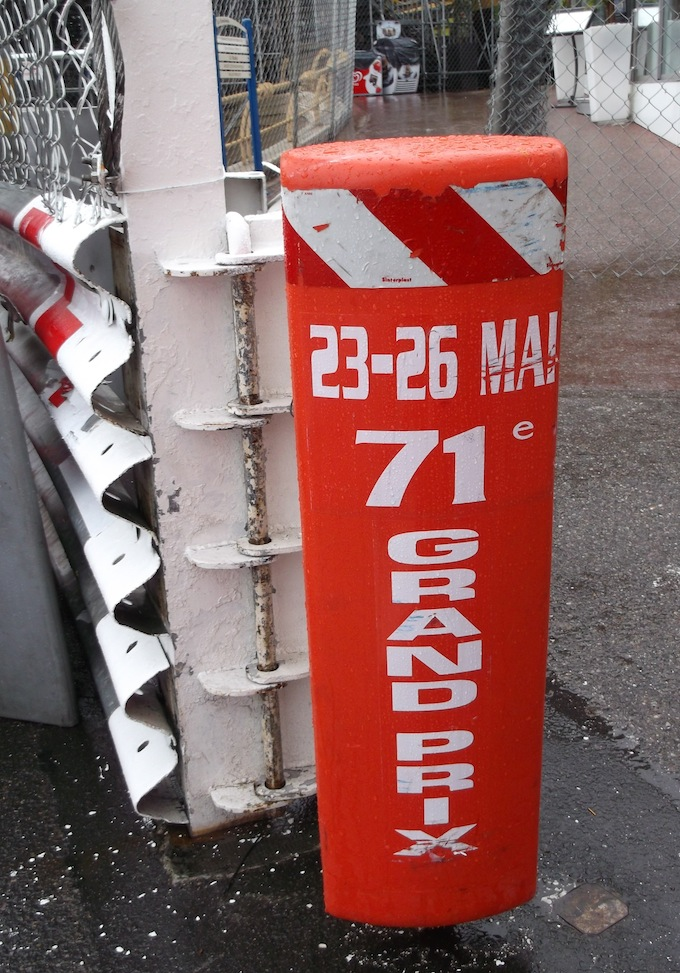Bollard at Monaco Grand Prix circuit