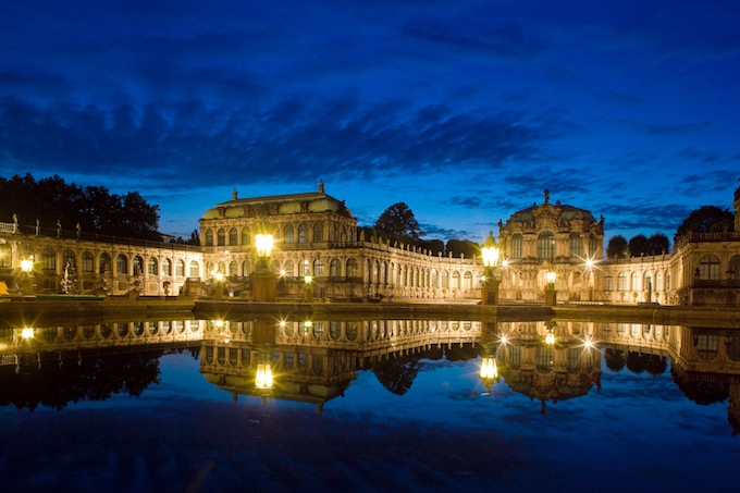 Zwinger in Dresden by night