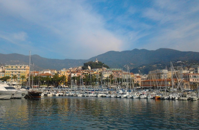 The port of Sanremo in Italy