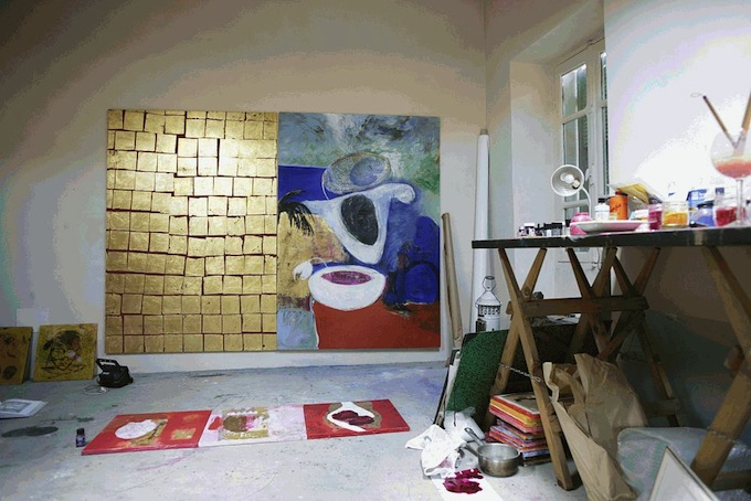 The art house in Montalto Ligure in Italy