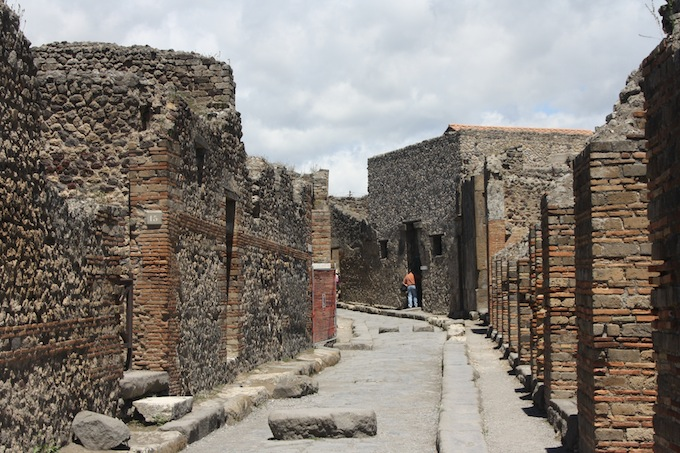The ruins in Herculaneum in Italy
