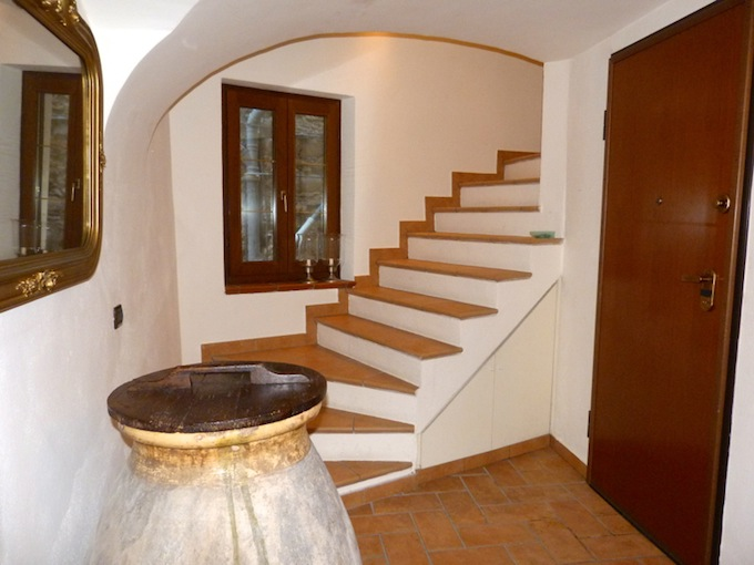 The spiral staircase in the Dolceacqua property