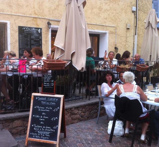 Corsican evening at A Casa Serena in Les Adrets
