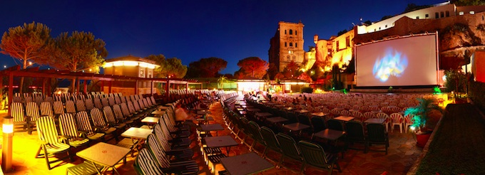 The outdoor cinema in Monaco