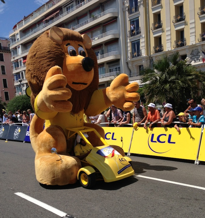 The Publicity Caravan in Nice for the Tour de France