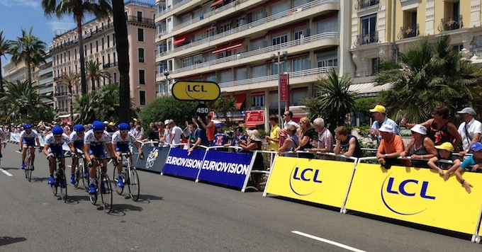 Team Time Trials for Tour de France 2013 in Nice