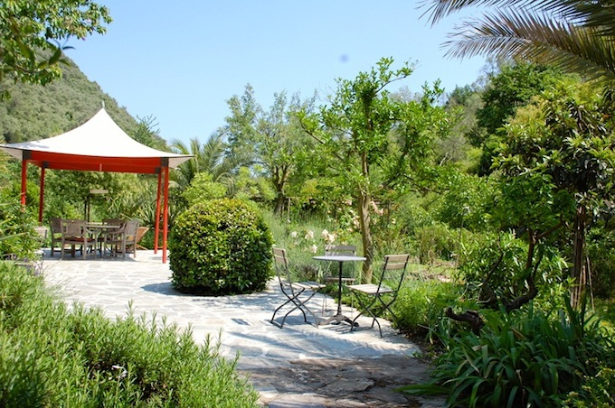 Beautiful gardens surround the Dolcedo-Lecchiore property