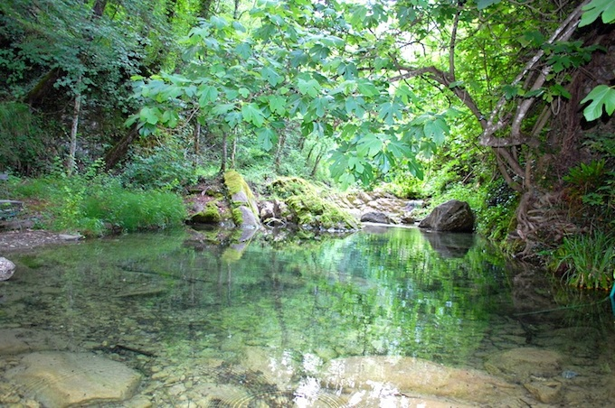 Adjoining river is part of the propertyin Dolcedo-Lecchiore