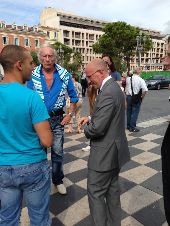Eric Ciotti at the demonstration in Place Masséna in Nice