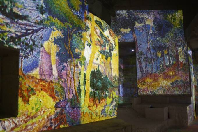 Les Carrières de Lumières exhibition Monet, Matisse, Chagall