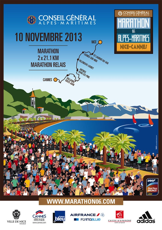 Marathon Alpes-Maritimes 2013 affiche