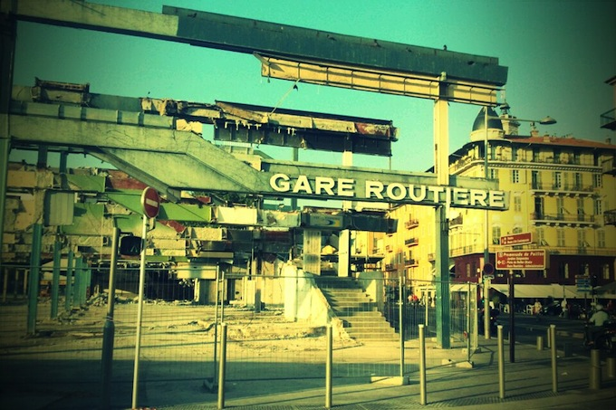 The semi-demolished Gare Routiere in Nice 2011