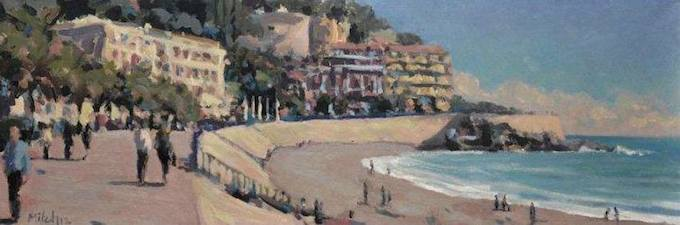 Promenade des Anglais in Nice by Mitch Waite