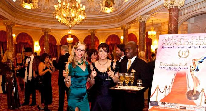 Lavish setting of the Hermitage Hotel in Monaco for the Angel Film Awards 2013