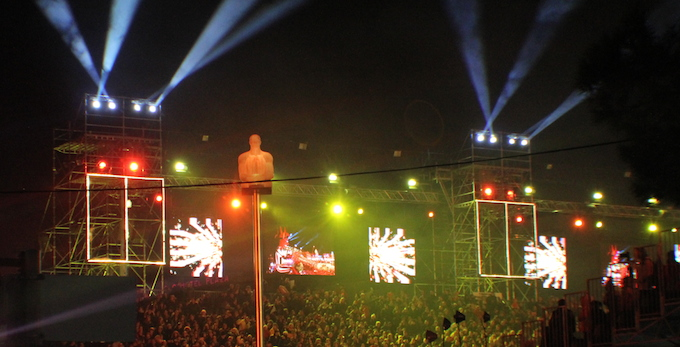 Opening ceremony of Carnaval de Nice 2013 in Place Masséna