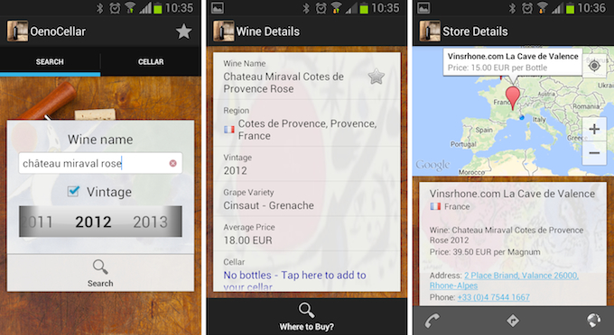 Oenocellar app gives you valuable wine information at your fingertips