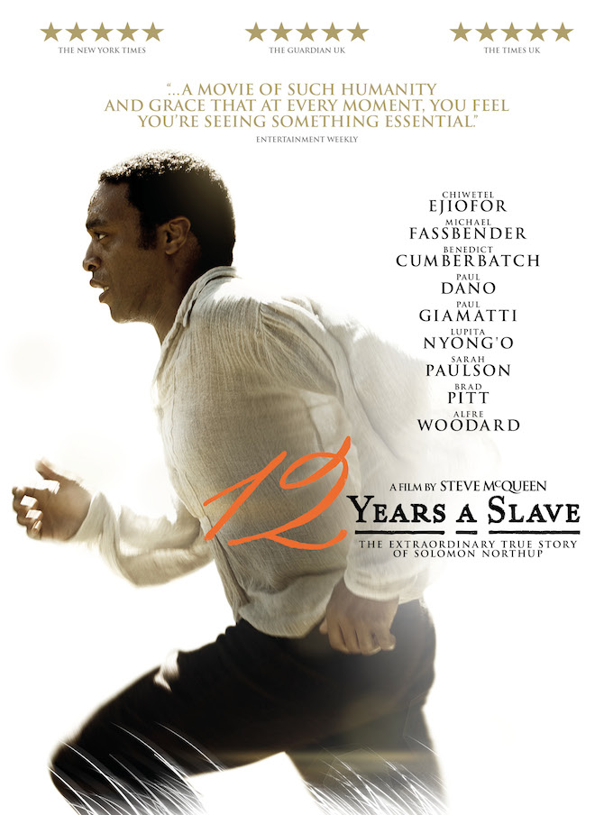 12 Years A Slave the movie poster
