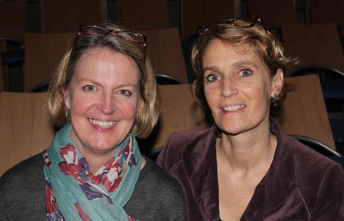 Jo Walker and Emily Morgan of the International School of Nice