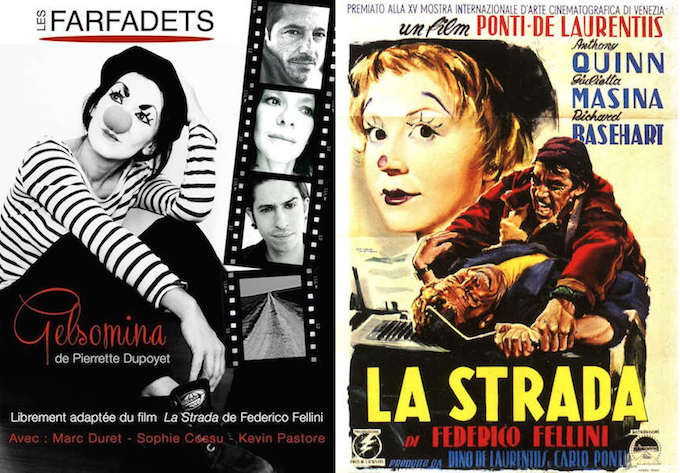 La Strada and Gelsomina posters