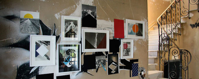 Artworks on display at the Villa Cameline in Nice