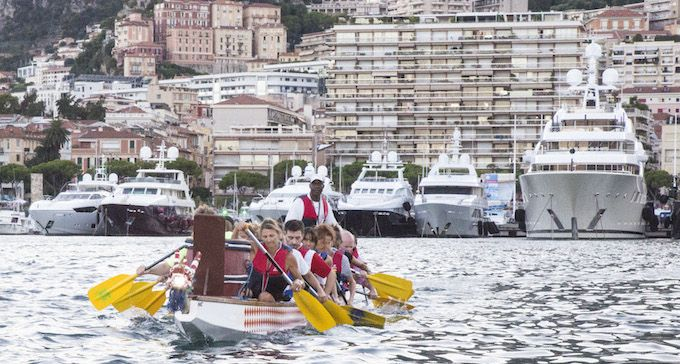 Dragon Boat in Monaco's Port Hercule
