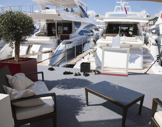 Yachts at Cannes Yachting Festival 2014