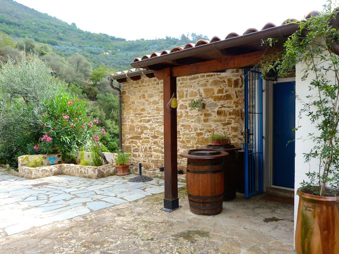 Courtyard beside House in Perinaldo in Liguria